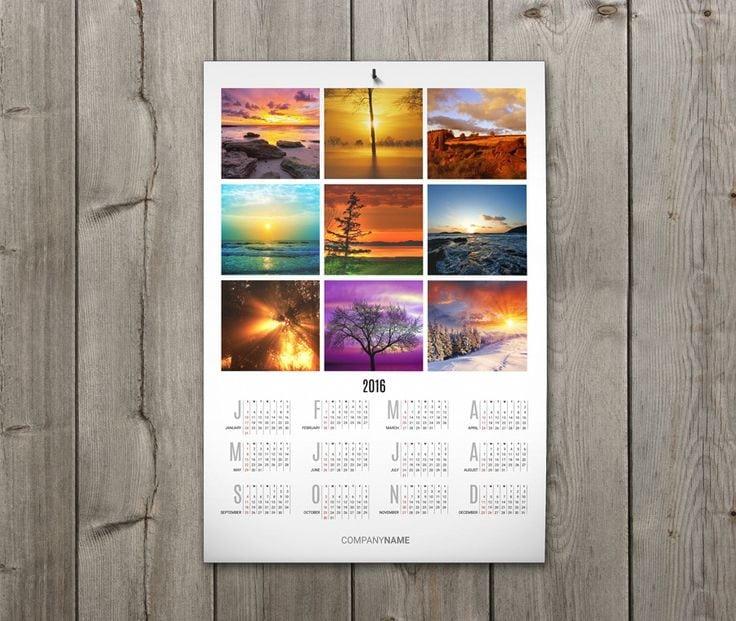 digital poster calendars 11x17 100 qty same day rush trade