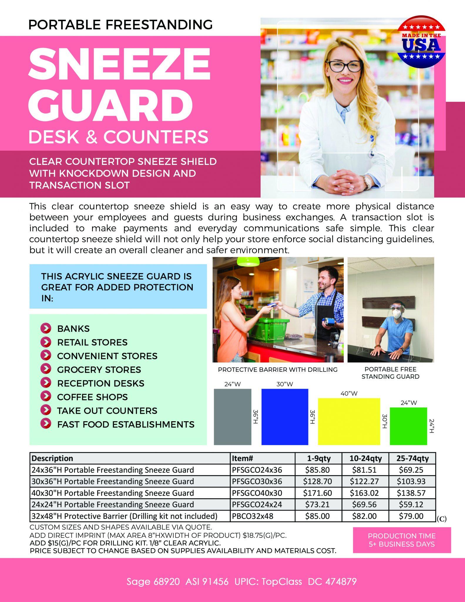 Wholesale Sneeze Guards – Acrylic Barrier