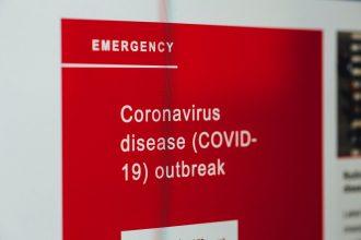 coronavirus emergency red sign